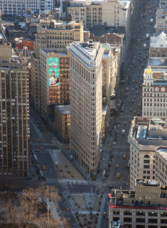 Which book genres flatiron building NYC