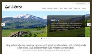 Author Website Design - Gail Holstein