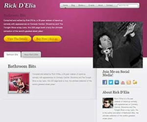 Author Website Design - Rick D'Elia