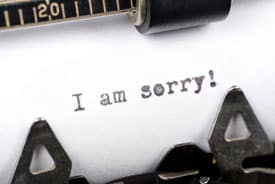 literary agent decision apology