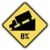 Warning - Steep Road
